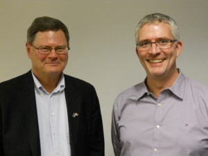John Young and David Mutimer, Director of York Centre for International and Security Studies
